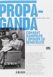 Propaganda; livre; Bernays;