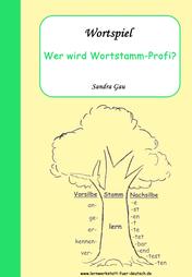 Wortstamm Wortfamilie, Übungen Lernwörter, Übungen Verben, konjugieren was ist das, Wortstamm Spiel