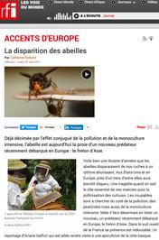 Emission Accents d'Europe sur RFI au sujet de la disparition des abeilles
