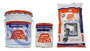Mortero epóxico para anclaje de equipo pesado con alta resistencia a la compresión. Se usa para el anclaje de maquinaria y para la conformación de pisos en los que se requiere alta resistencia mecánica y química.