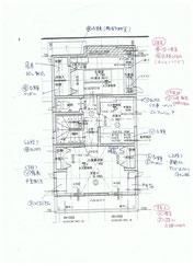 部屋の使い方、収納計画案