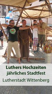Jährliches Stadtfest in Wittenberg - Luthers Hochzeit