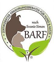Dogsmopolitan ist zertifizierter Ernährungsberater für Hund und Katze nach Swanie Simon Barf