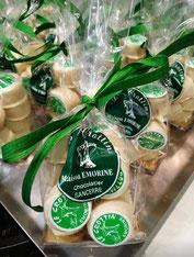 Une spécialité au chocolat avec raisin, rappelant les branches des vignes