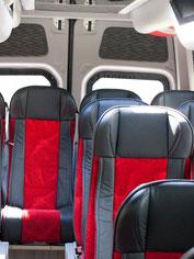 Innenansicht Reisebus Mercedes 518CDI der Firma Resch Reisen