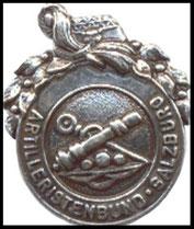 Vereinsabzeichen in Silber Artilleristenbund Salzburg