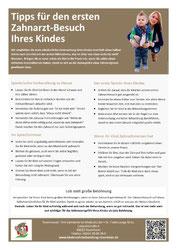 Merkblatt für Eltern: Der erste Besuch Ihres Kindes beim Zahnarzt