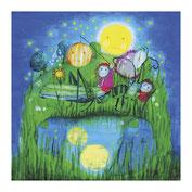 Kinderposter-Mondnacht-Nachtbild