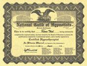 Zertifikat National Guild of Hypnotists