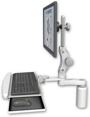 業務用モニターアーム デスクマウント ディスプレイキーボード用アーム:ASUL550-D5-KDB-AS1