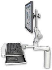 モニターアーム, デスクマウント, カウンタートップマウント, UL550シリーズ, ディスプレイ, キーボード, 医療, 医療機器, メディカル, メディカルモニター, ヘルスケア, 歯科, デンタル, 病院, 病院設備