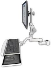 ポールマウント 支柱取付 ディスプレイキーボード用 ワークステーションアーム : ASUL550-P15-KUB-AS1