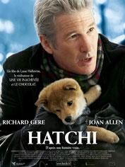 affiche du film hatchi avec richard gere akita inu chien