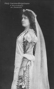 Hedy Brügelmann als Desdemona, Stuttgart, ca. 1913