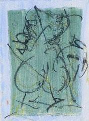 Liebe 3, Mischtechnik auf Holz, 70 x 100 cm, 2007