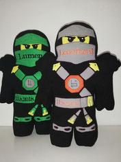 Formkissen mit Namen Ninja Ninjago grau