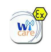 Logo des Schwingungsdiagnose-Systems Wi-care mit Ex-Schutz