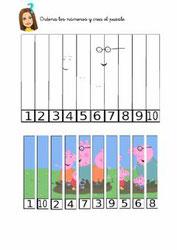 Ordena los números para componer el puzzle
