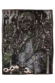 Wanddecoratie De Dood met skelet 3D 42 x 53 cm € 2,25