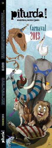 portada piturda carnaval ilustracion animales