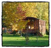 Zigeunerwagen - Roulotte - Zirkuswagen - Originelle Ferien im Burgund