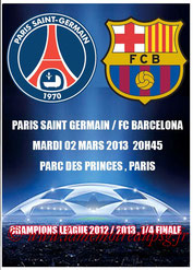 Programme pirate  PSG-FC Barcelone  2012-13