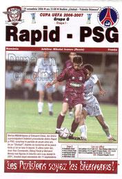 Programme  Rapid Bucarest-PSG  2006-07