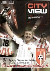 Programme  Derry City-PSG  2006-07