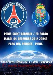 Programme pirate  PSG-Porto  2012-13