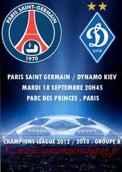 Programme pirate  PSG-Dynamo Kiev  2012-13