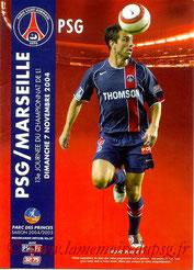 Programme  PSG-Marseille  2004-05