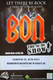 Fotos 2013 Rockkonzert CH-8855 Wangen SZ Bon The AC DC Show
