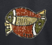 t shirt poisson exotique