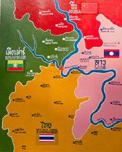 Länderkarte vom Goldenen Dreieck