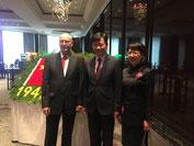 20.9.2019: Botschafter WU Ken und Gattin GUO Jinqiu
