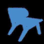Lounge chair made from skateboards. Skateboard sessel aus vier Skateboards. Sessel oder Bank für modernes Wohnen. Modern living.