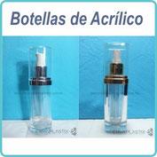 Envases cosméticos de acrílico