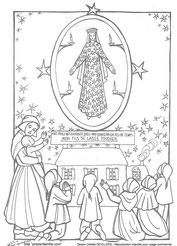 Coloriages Apparitions De La Sainte Vierge Marie Le Chemin