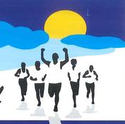 Plakat Läufer