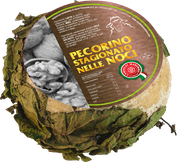 pecorino maremma new taste sheep sheep's cheese dairy caseificio tuscany tuscan spadi follonica block 1200g 1.2kg italian origin milk italy matured aged in leaf leafs of walnut walnuts nut nuts refine refined flavored flavor stagionato nelle noci