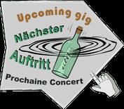 Luciano Pagliarini: next gig, nächster Auftritt, prochaine concert