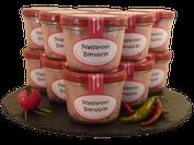 Pfefferoni Bierwurst im Glas im Onlineshop der Metzgerei Weinbuch