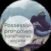 norwegische Possessivpronomen hans hennes deres sin sitt sine