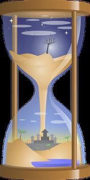 Nous sommes tous emportés dans le tourbillon du temps, entraînés dans le sablier des années qui s'écoulent inexorablement… Une petite voix peut parfois nous reprocher de n'avoir pas vécu pleinement certains moments… Fixons notre regard dans le présent.