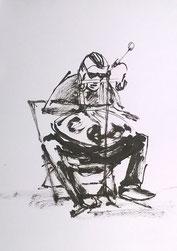 Le Crayon Nomade atelier croquis au Rocher Palmer à Cenon