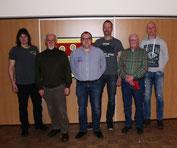 Die Jubilare: v.li. Marc Ellendt, Emanuel Speidel, Frank Rottstegge (1.Vorsitzender), Ingo Wehrkamp, Erhard Keller und Frank Brandt