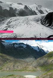 Die Gletscher, wie auch die Pasterze in Österreich, schmelzen