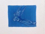 Enluminure d'ange, inspirée du duc du Berry, Or-et-Caracteres