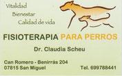Dr. Claudia Scheu Fisiotherapia für Hunde