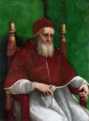 Portrait du Pape Jules II, Raphaël